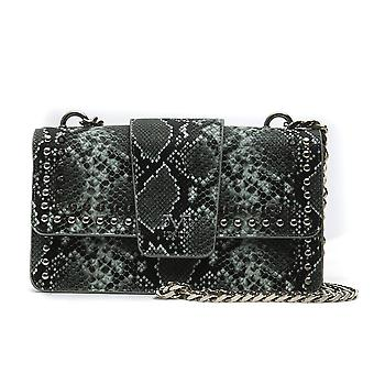 Lightgreen italia snake print crossbody bag