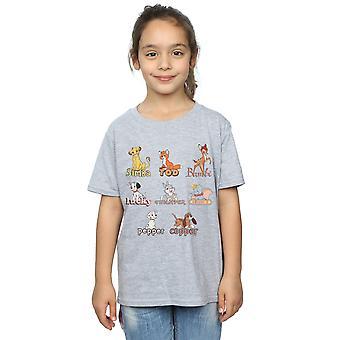Disney Girls Little Friends Eläimet T-paita