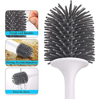 Silicone Tpr Toilet Brush And Holder Quick Drain Cleaning Brush Tools