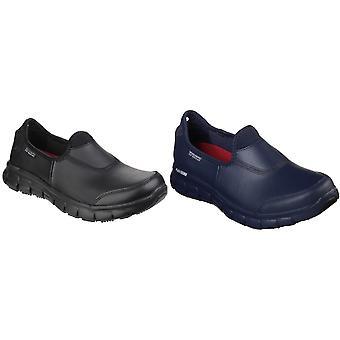 Skechers beroepsmatige Womens/dames zeker Track Slip op werkschoenen