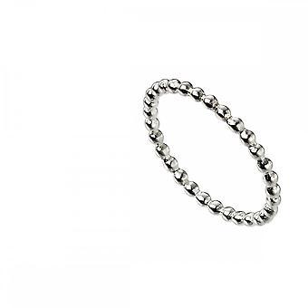 بدايات الجنيه الاسترليني الفضة رقيقة خرص باند حلقة R3705