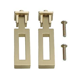 2PC Zinc Alloy Furniture Rectangular Type Cabinet Pull Handle