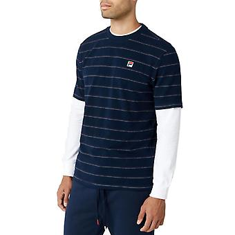 Fila Leon Striped T-Shirt Blue 03