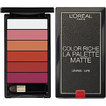 L'Oreal Paris Color Riche Lip Palette Matte - Bold
