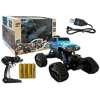 Monster RC-Truck bleu avec télécommande - pistes