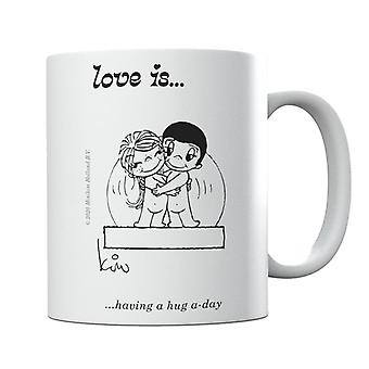 Love Is Having A Hug A Day Mug