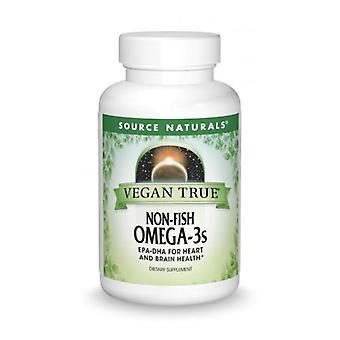 Source Naturals Vegan True Non-Fish Omega-3s, 300 mgs, 30 Softgels