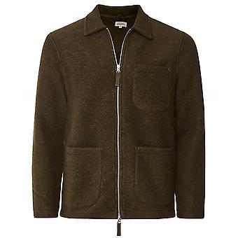 Hartford Boiled Wool Zip-Through Jacket