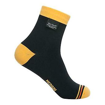 Dexshell Ultralite Unisex Ankle Waterproof Socks Black/Yellow XL UK Size 12-14