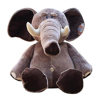 25cm Jungle Brothers, Plush Stuffed, Elephant Animals Dolls Toy For Kid (25cm)