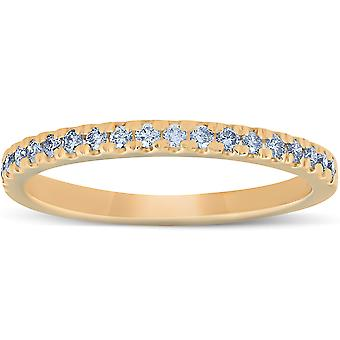 1/4 Ct Lab Grown Diamond EX3 Wedding Ring 10k Yellow Gold