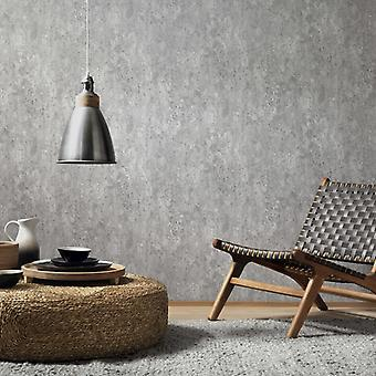 2 pcs. rolls of wallpaper concrete grey 0.53×10 m