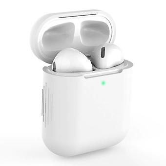 SIFREE Flexible Case for AirPods 1/2 - Silicone Skin AirPod Case Cover Smooth - White