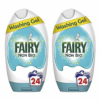 Fairy Washing Gel, Non-Bio, Pack of 2 24 Washes, 888ml