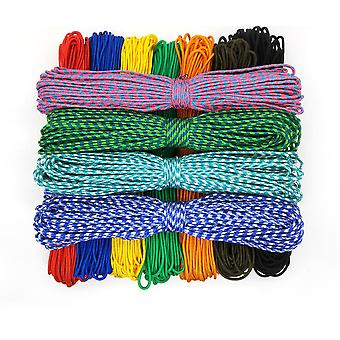 100-colors Paracord 2mm 100ft/50ft/25ft One-stand Cores Paracord Rope Paracorde