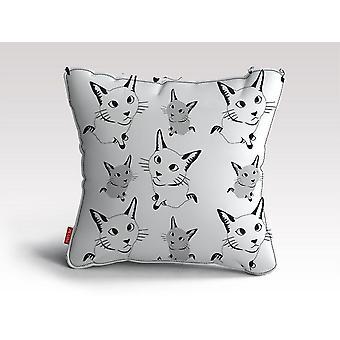 Söpö kissa kuvio tyyny / tyyny