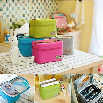 Cooler Bag Waterproof Nylon Practical Small Portable Ice Bags/thermos Lunch Box