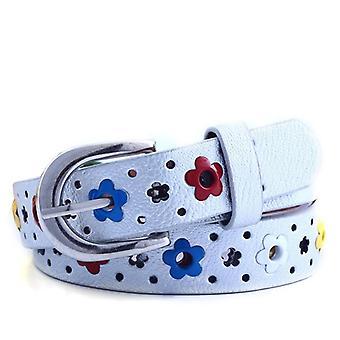 Ceintures de fleurs de papillon de garçons et de creux, ceinture de ceinture de cuir de pu