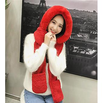Autumn Winter Hat Female Plush Thick Double-layer Northeast Warm Cycling Neck