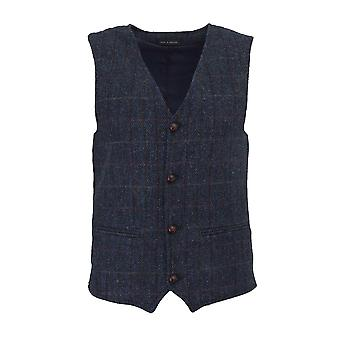 Walker and Hawkes - Mens Classic Scottish Harris Tweed Country Gilet