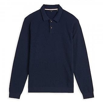 Ted Baker COPY - Ted Baker Akt Long Sleeve Navy Polo Shirt