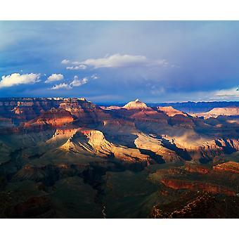 Grand Canyon näkymä Shoshone kohta myrskypilvi varjot south rim Grand Canyon National Park Arizona USA Juliste Tulosta