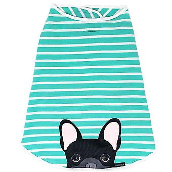 Frenchie Shirt | Frenchiestore | Black French Bulldog In Aquamarine