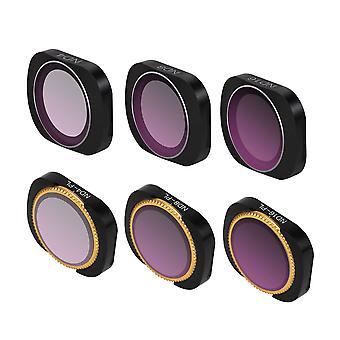 Adjustable Filter Optical Glass Camera Lens Filter ND-X ND4+ND8+ND16+ND4-PL+ND8-PL+ND16-PL Set   Accessories Black