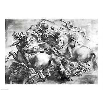 Die Schlacht von Anghiari nach Leonardo da Vinci Poster Print von Rubens (24 x 18)