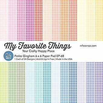 بلدي الأشياء المفضلة بيتيت Gingham 6x6 بوصة ورقة لوحة