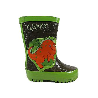 Startrite Baby Dragon Green Rubber Childrens Wellington Boots