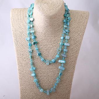 Collana di cristallo Fashio Long Knotted Halsband