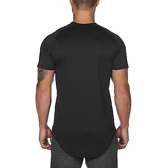 Sport Shirt Hommes Short Sleeve Workout Gym Compression Slim Fit Running Fitness