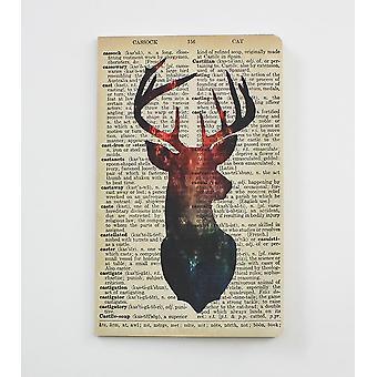 Galaxy Deer Dictionary Art Notebook