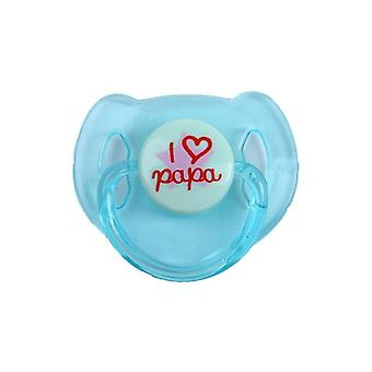 Dudlík a magnet I Love Papa Toy For Newborn Baby