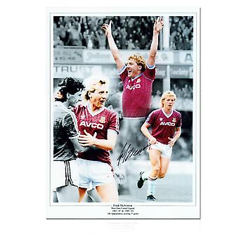Frank McAvennie Signed West Ham Photo