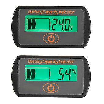 12V/24V Battery Gauge Meter Digital LCD Lead Acid Voltage Level Indicate Voltmeter