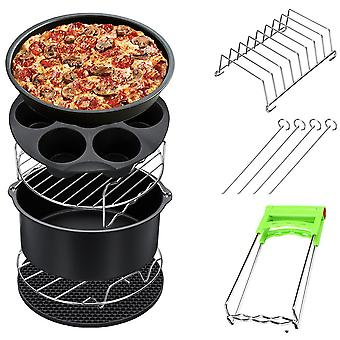 7 Inch Fit For Air Fryer 5.2-6.8qt Baking Basket Pizza Plate Grill Pot