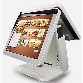 15 Inch Android Check Out Terminal Android Touch Dual Lcd Pos Terminal