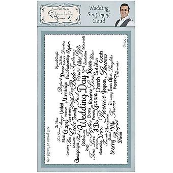 Sentimentally Yours Wedding Sentiment Cloud Rubber Stamp