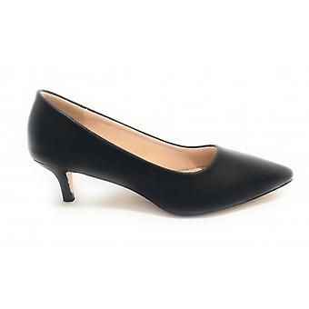 Women's Gold and Gold Shoe Decollete A Punta Tc 45 Black / Leather Inpiede Ds19gg82