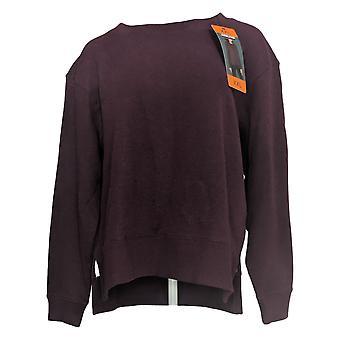 Kirkland Signature Women's Sweater (XXL) Relaxed Fit Fleece Crew Purple