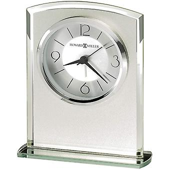 Howard MillerGlamourTableClock645-771 –Frosted Glass Timepiece, Curved Top, Mirrored
