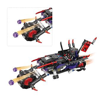Compatible avec Naruto Giant Wheel Motorcycle Chase Battle Assembled Blocks (no