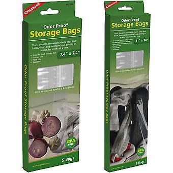 Bolsas de almacenamiento a prueba de olores de Coghlan (3 Count), Reutilable Food Safe
