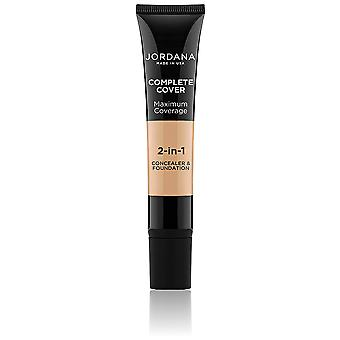 Jordana Kosmetika Stiftung 2 i 1 Komplett-Schutz Golden Beige