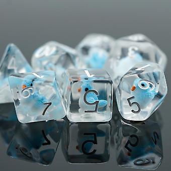 Set di dadi per giochi poliedri per giochi da tavolo