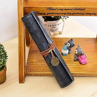 Pu Leather Creative Map Pencil Cases
