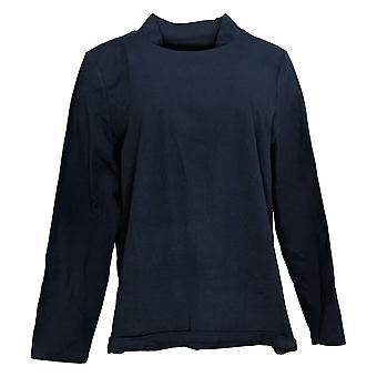 Denim & Co. Women's Top Basic Long-Sleeve Blue A389884