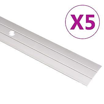 vidaXL Transition profile 5 pcs. aluminum 100cm Golden
